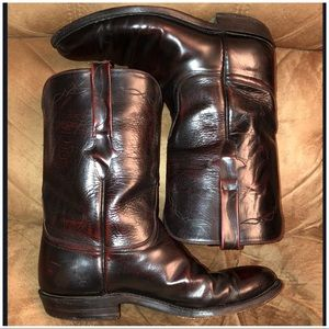 d4f02c03431 Lucchese Bannock Roper Goatskin Leather Boots!